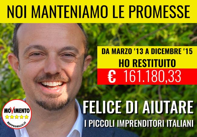 M5S Sergio Puglia Restituzione Per Aiutare PMI Dicembre 2015 650px