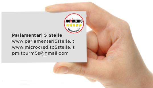 m5s PMI grafica biglietto visita Parlamentari