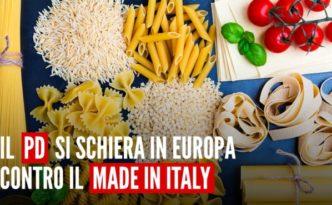 Il pd si schiera contro il Made In Italy