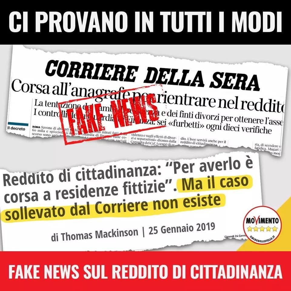 Fake News Corriere della Sera