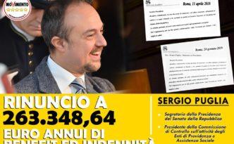 Sergio Puglia Rinuncia benefit indennità