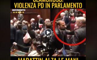 Marattin alza le mani su deputato M5S