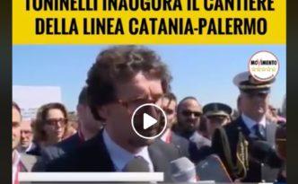Toninelli cantiere ferroviario Catania Palermo