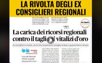 Ex Consiglieri Regionali Vogliono tenersi il vitalizio